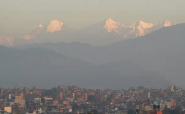 dawn view from Summit Hotel in Patan, Kathmandu