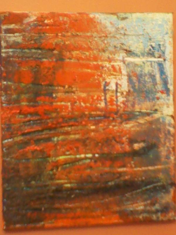 orange abstracts old and new large and small
