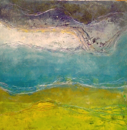 storm encroaching oil and wax 50cm sq panel